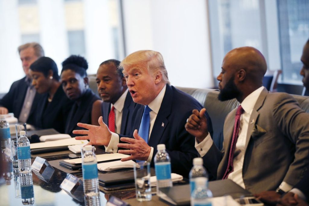 Donald Trump with Black Business Leaders