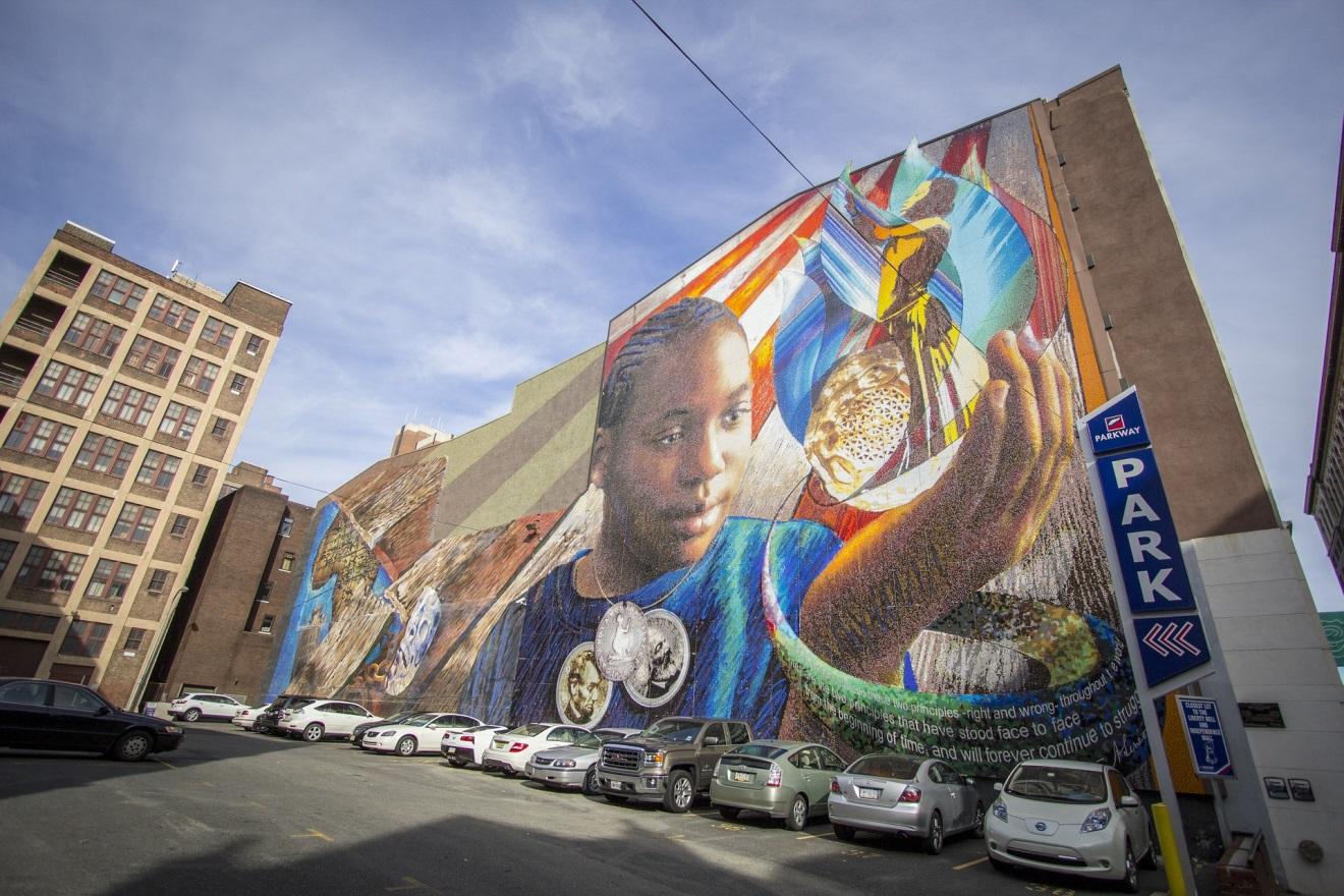 Philadelphia Mural near Race & Vine Streets