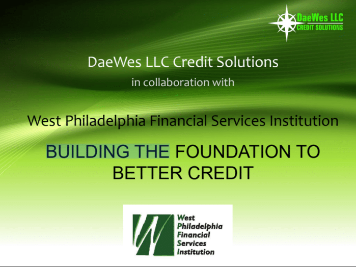 WPFSI/DaesWes Credit Workshop 2018