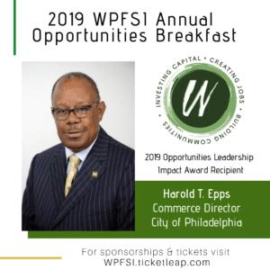 Harold Epps, Recipient of WPFSI 2019 Opportunities Leadership Impact Award